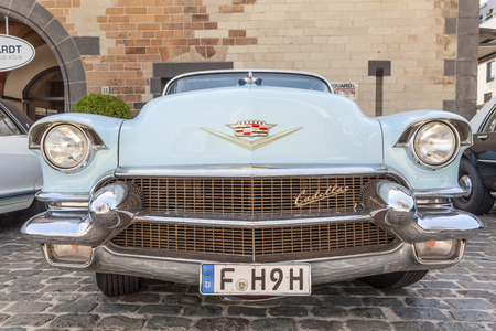 COLOGNE, GERMANY - AUG 7, 2016: 1956 Cadillac Eldorado Biarritz at an exhibition in the city of Cologne, Germany Editorial
