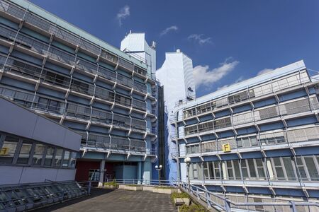 rhine westphalia: SIEGEN, GERMANY - SEP 1, 2016: The University of Siegen building. North Rhine Westphalia, Germany