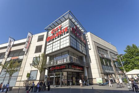 sep: SIEGEN, GERMANY - SEP 8, 2016: The City Galerie shopping center in the city of Siegen. North Rhine Westphalia, Germany