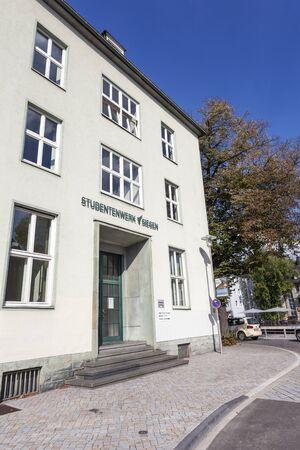 rhine westphalia: SIEGEN, GERMANY - SEP 1, 2016: Student Union building in the city of Siegen. North Rhine Westphalia, Germany