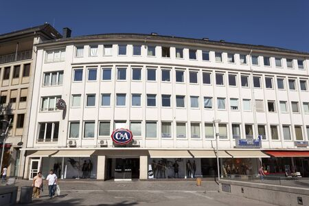 rhine westphalia: SIEGEN, GERMANY - SEP 8, 2016: The C&A store in the city of Siegen. North Rhine Westphalia, Germany. C and A  is an international Dutch chain of fashion retail clothing stores