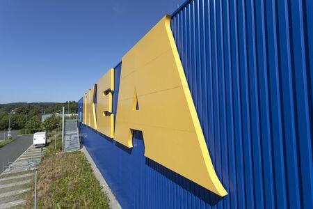 SIEGEN, GERMANY - SEP 8, 2016: New IKEA store in Siegen. North Rhine Westphalia, Germany.  IKEA is the worlds largest furniture retailer company