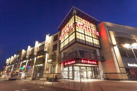 sep: SIEGEN, GERMANY - SEP 1, 2016: The City Galerie shopping center and mall in the city of Siegen. North Rhine Westphalia, Germany Editorial