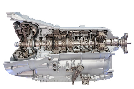 Cross section of a modern automatic transmission of a truck