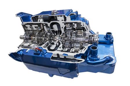 Coupe transversale d'une transmission automatique moderne d'un camion