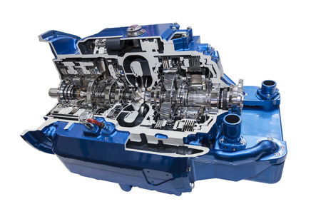 cross section: Cross section of a modern automatic transmission of a truck