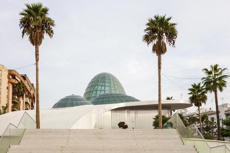 ESTEPONA, SPAIN - OCT 20, 2016: New Orchidarium building in Estepona, Costa del Sol, Spain