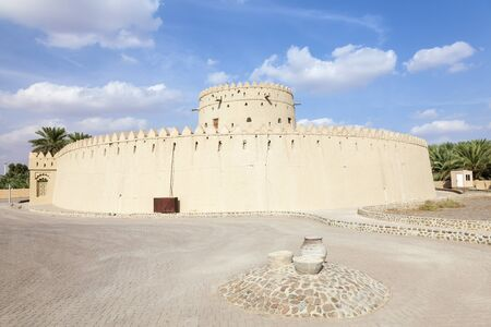 The historic Hili tower in the city of Al Ain. Emirate of Abu Dhabi, United Arab Emirates