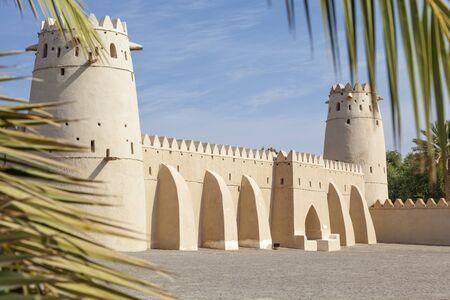 united arab emirate: Historic Al Jahlili fort in Al Ain. Emirate of Abu Dhabi, United Arab Emirates