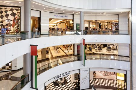 souq: DUBAI, UAE - DEC 5, 2016: Bloomingdales store at the Dubai Mall - worlds largest shopping mall. United Arab Emirates, Middle East