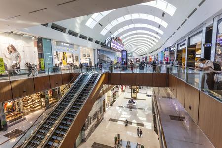 DUBAI, UAE - DEC 5, 2016: Interior of the Dubai Mall - worlds largest shopping mall. United Arab Emirates, Middle East Editorial