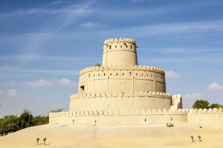 Historic Al Jahlili fort in the city of Al Ain. Emirate of Abu Dhabi, United Arab Emirates, Middle East
