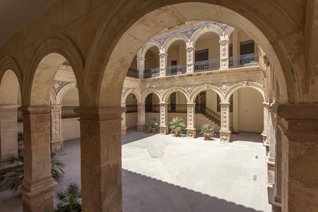 Historic convent of La Merced building in the old town of Lorca. Province of Murcia, Spain 版權商用圖片
