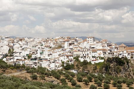 Typical whitewashed andalusian village Alora. Province of Malaga, Spain
