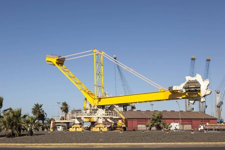 Old bagger in the port of Huelva, Andalusia, Spain
