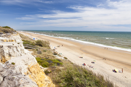 Playa del Asperillo beach in Matalascanas. Donana Natural Park, Huelva province, Costa de la Luz, Andalusia, Spain