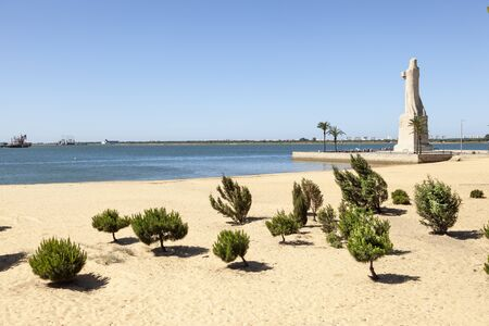 Christopher Columbus monument in the city of Huelva. Andalusia, Spain