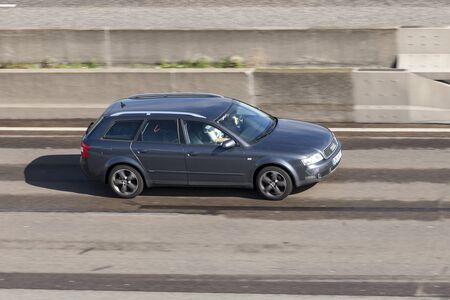 Frankfurt, Germany - Sep 19, 2017: Audi A4 Avant B6 from ca. 2006 driving on the highway in Germany