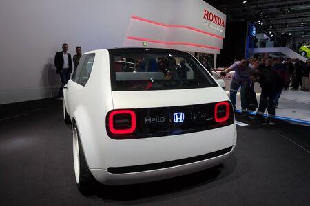 Frankfurt, Germany - Sep 20, 2017: New Honda Urban EV Concept Car  presentation at the Frankfurt International Motorshow 2017