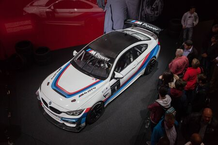 Frankfurt, Germany - Sep 20, 2017: New BMW M4 GT4 at the Frankfurt International Motorshow 2017