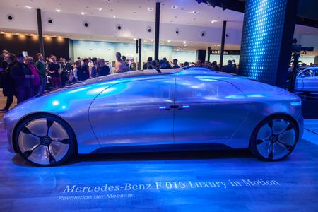 Frankfurt, Germany - Sep 20, 2017: Mercedes Benz F 015 Luxury Electric Car at the Frankfurt International Motorshow 2017