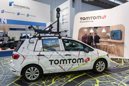 Frankfurt, Germany - Sep 20, 2017: TomTom camera car at the Frankfurt International Motorshow 2017 Editorial