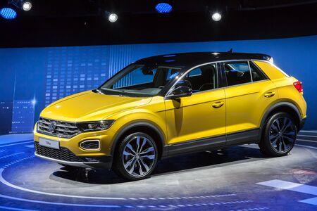 sep: Frankfurt, Germany - Sep 20, 2017: New Volkswagen T-Roc SUV at the Frankfurt International Motorshow (IAA) 2017