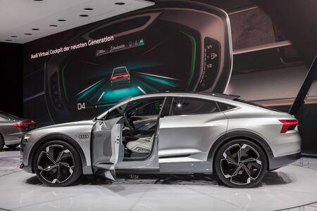 Frankfurt, Germany - Sep 20, 2017: Audi Aicon concept car at the Frankfurt International Motorshow (IAA) 2017
