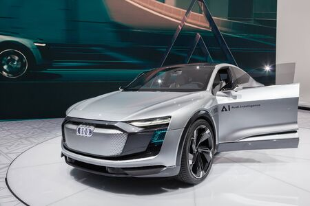 Frankfurt, Germany - Sep 20, 2017: Audi Aicon Elaine concept car at the Frankfurt International Motorshow (IAA) 2017