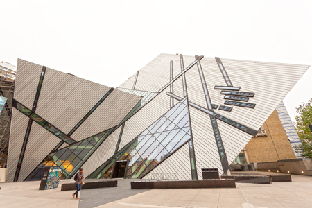 Toronto, Canada - Oct 12, 2017: Exterior of the Royal Ontario Museum (ROM) in the city of Toronto, Canada