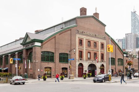 Toronto, Canada - Oct 13, 2017: Historic St Lawrence Market in the city of Toronto. Province of Ontario, Canada