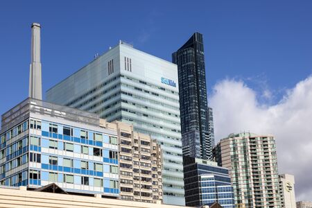 Toronto, Canada - Oct 16, 2017: SickKids childrens hospital building in the city of Toronto. Province of Ontario, Canada