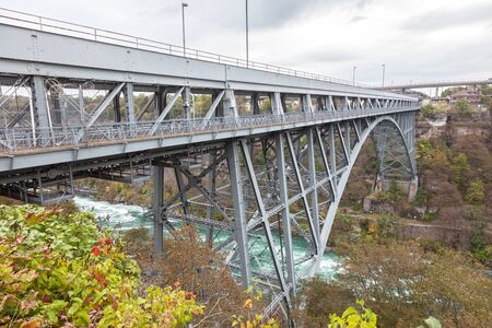 The Whirlpool Rapids Bridge across the Niagara River in Canada Stock Photo - 90503871