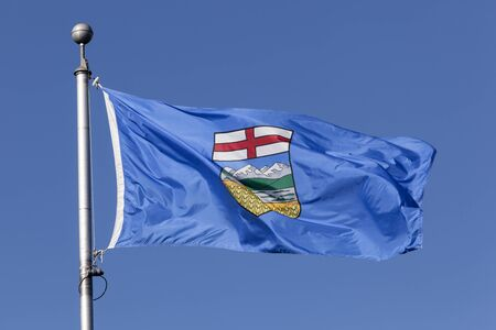 National flag of the Alberta province in Canada