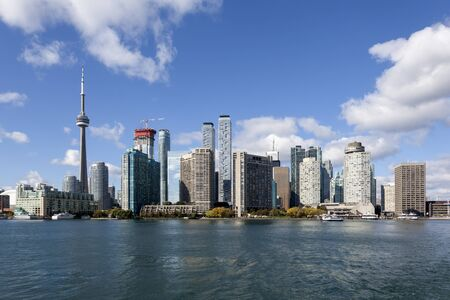 Skyline of Toronto downtown. Province of Ontario, Canada