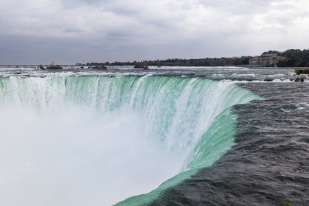 The Niagara Falls between United States of America and Canada