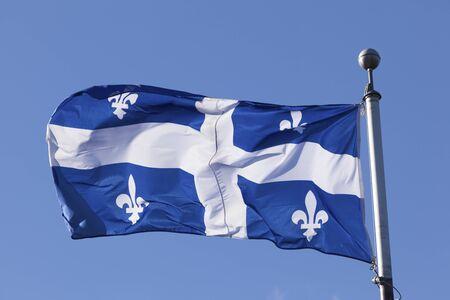The national flag of Quebec, Canada
