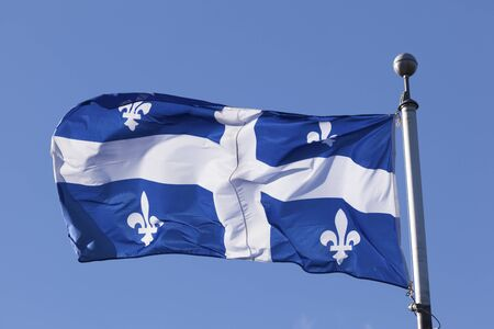 The national flag of Quebec, Canada
