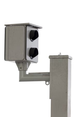 Speed camera isolated over white background Banco de Imagens - 91196141