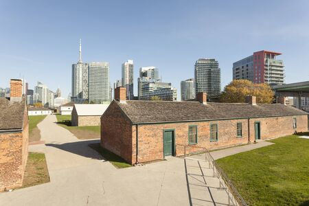 Historic fortification Fort York in the city of Toronto, Canada Banco de Imagens - 91199998