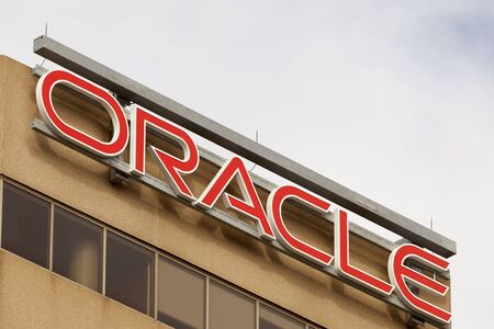 Toronto, Canada - Oct 21, 2017: The Oracle company office in the city of Toronto, Canada