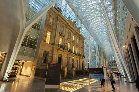 Toronto, Canada - Oct 21, 2017: Interior of the Brookfield Place in Toronto. Brookfield Place is an office and shopping complex downtown in Toronto, Canada Editorial