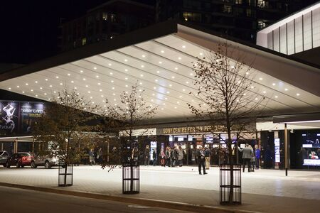 Toronto, Canada - Oct 21, 2017: Sony centre for the performing arts in the city of Toronto, Canada