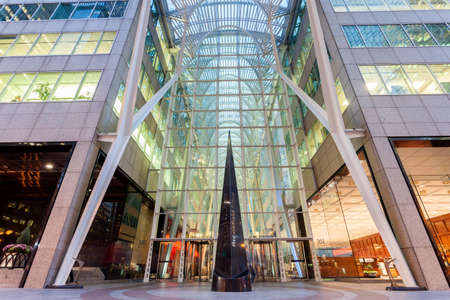 Toronto, Canada - Oct 21, 2017: The Brookfield Place in Toronto. Brookfield Place is an office and shopping complex downtown in Toronto, Canada Editorial