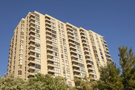 Highrise residential apartment buildings in the city Banco de Imagens - 92028296