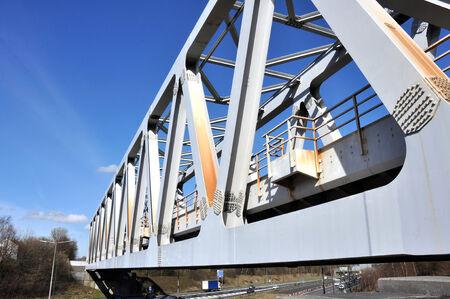warren: A Warren truss steel girder railway bridge in Brinnington, Stockport, Greater Manchester, Greater Manchester, Great Britain
