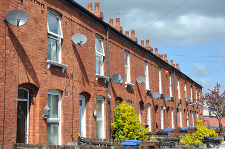Rangée De Briques Rouges Du Nord Anglais Maisons Traditionnelles