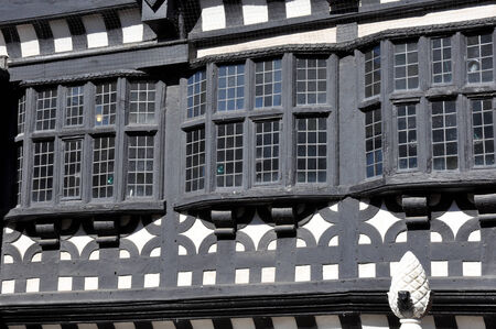 herrenhaus: Traditionelle Tudor-Zeit Fachwerk Schwarz-Wei�-Herrenhaus in Stockport, England