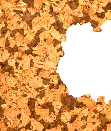 cork sheet: Damaged and ripped natural brown coloured cork tile texture pattern Stock Photo