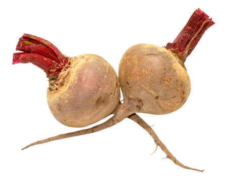 unwashed: Fresh raw unwashed beetroots isolated on a white background